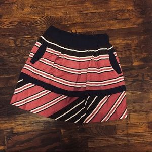 Maeve Ellery Striped Skirt with Pockets